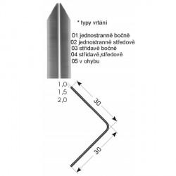Ochrana rohů 30x30 mm, jedenkrát hraněná, nerez kartáčovaná - samolepící