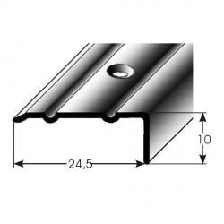 Úhlový profil 10x24,5 mm aluminium elox., vrtaný dřevodekory-folie