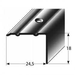 Úhlový profil 18x24,5 mm Aluminium elox., vrtaný, dřevodekor-folie s SB balením